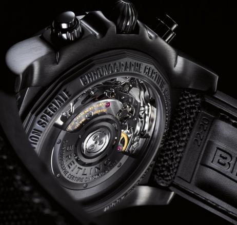 Sturdy Breitling Chronomat 44 Blacksteel Fake Watches