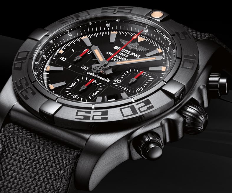 Sturdy Breitling Chronomat 44 Blacksteel Replica Watches