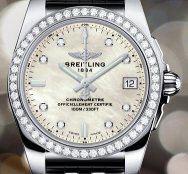 Swiss Women's Breitling Galactic 36 SleekT Replica Watches