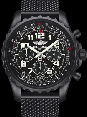 Cool Swiss Breitling Chronospace Automatic Blacksteel Replica Watches