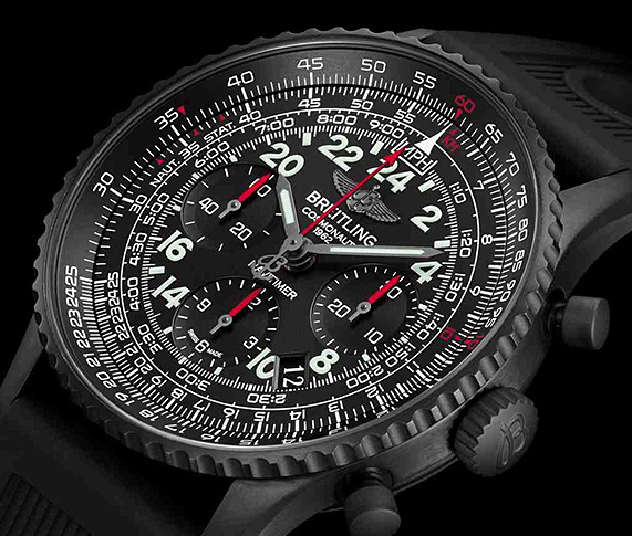Cool Swiss Breitling Navitimer Cosmonaute Blacksteel Replica Watches