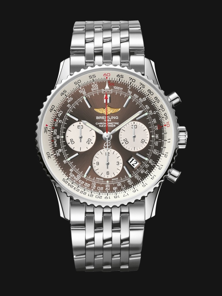 Silver Opaline Sub-dials Replica Breitling Navitimer 01 Watches