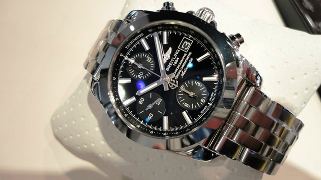 Feminine Fake Breitling Chronomat 38 Watches With Black Dials