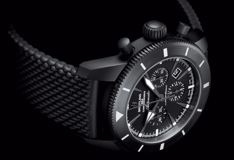Black Rubber Straps Breitling Superocean Héritage Chronoworks® Replica Watches