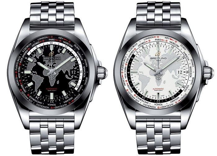 stainless steel case copy breitling galactic Unitime