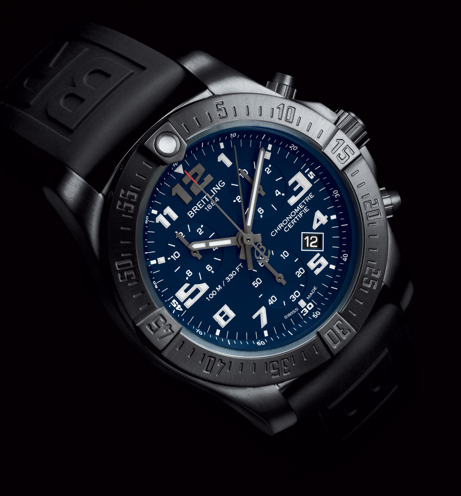 Charming Breitling Chronospace Evo Night Mission Replica Watches With Blue Dial