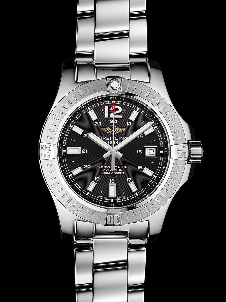Breitling watches replica - Black Dial Breitling Colt 41 Automatic Replica Watches Are Ready For Men