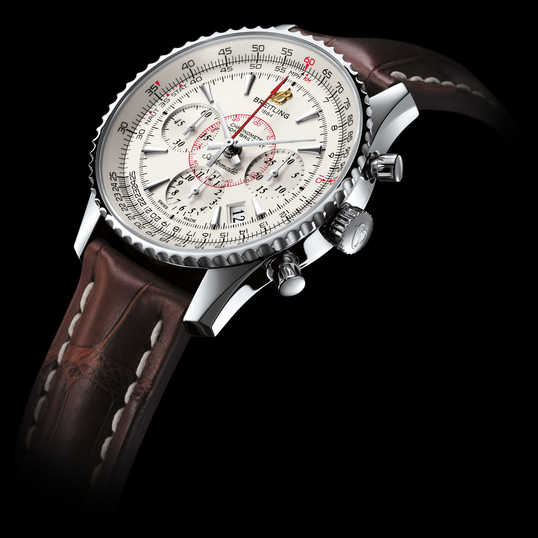 Brown Strap Breitling Montbrillant 01 Replica Watches