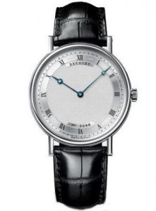 White gold case matches with silver dial, blending together from the visual effect, this silver dial fake Breguet watch shows you a different visual effect.