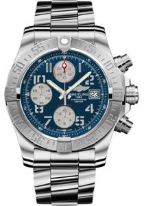 Adopting the charming blue dial, this replica Breitling watch easily catches people's attention.
