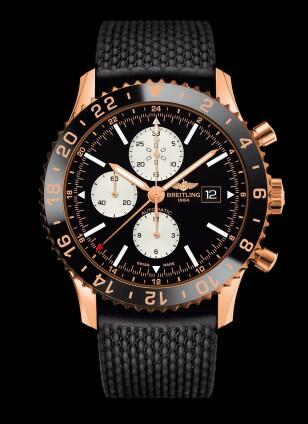 With contrasting dial and eye-catching red gold material, this fake Breitling watch also is a good choice.