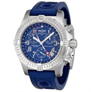 The 45.4 mm fake Breitling Avenger Seawolf Chronograph watches hav blue dials.