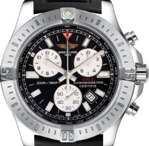 The 44 mm replica Breitling Colt A7338811 watches have black dials.