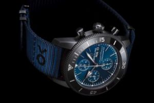 The special copy Breitling Superocean Heritage II Chronograph 44 Outerknown M133132A1C1W1 watches have blue dials.