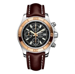The water resistant fake Breitling Superocean C1334112 watches are made from stainless steel and 18k rose gold.