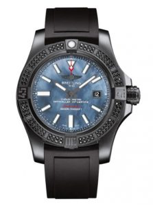 The 45 mm fake watches are made from black steel.