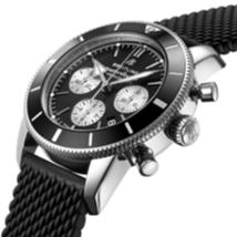 The 44 mm copy watches have black dials.