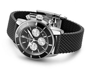 The stainless steel fake watches have black rubber straps.