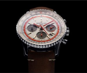 The brown leather straps replica watches have white dials.