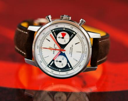 The Breitling looks elegant and sporty.