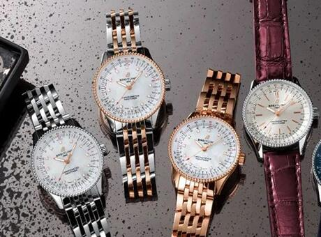 The Breitling Navitimer watches in 35 mm are good choices for women.
