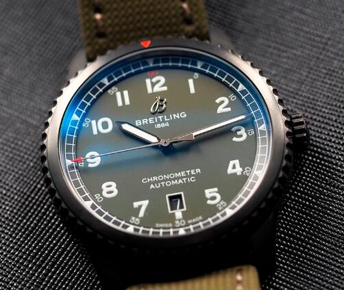 The black DLC-coated steel Breitling is very cool.