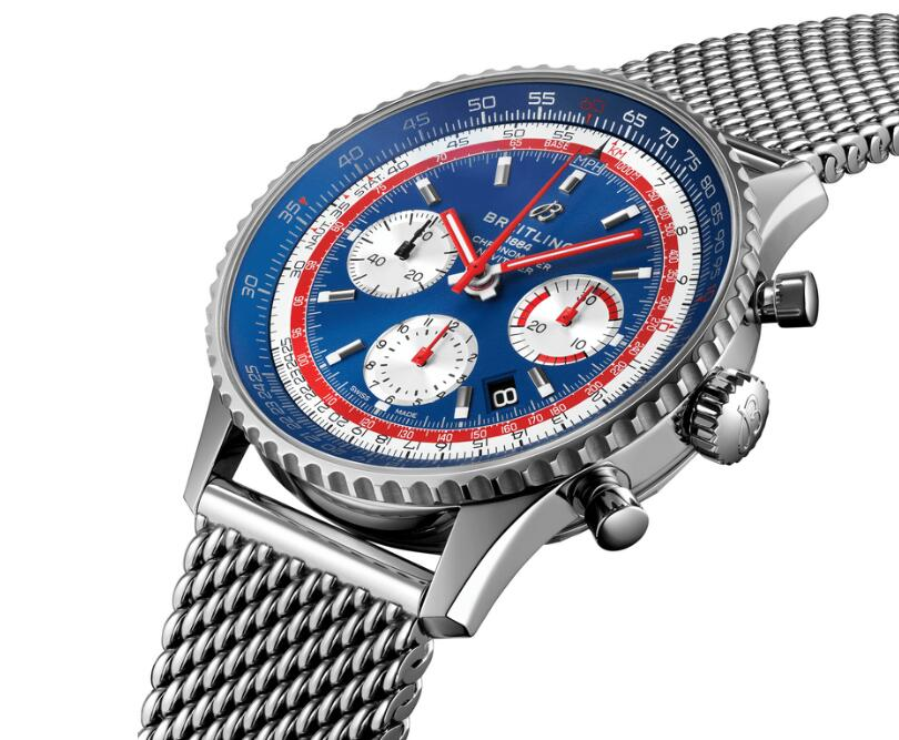 The Milan steel bracelet makes the Breitling fake watch more comfortable.