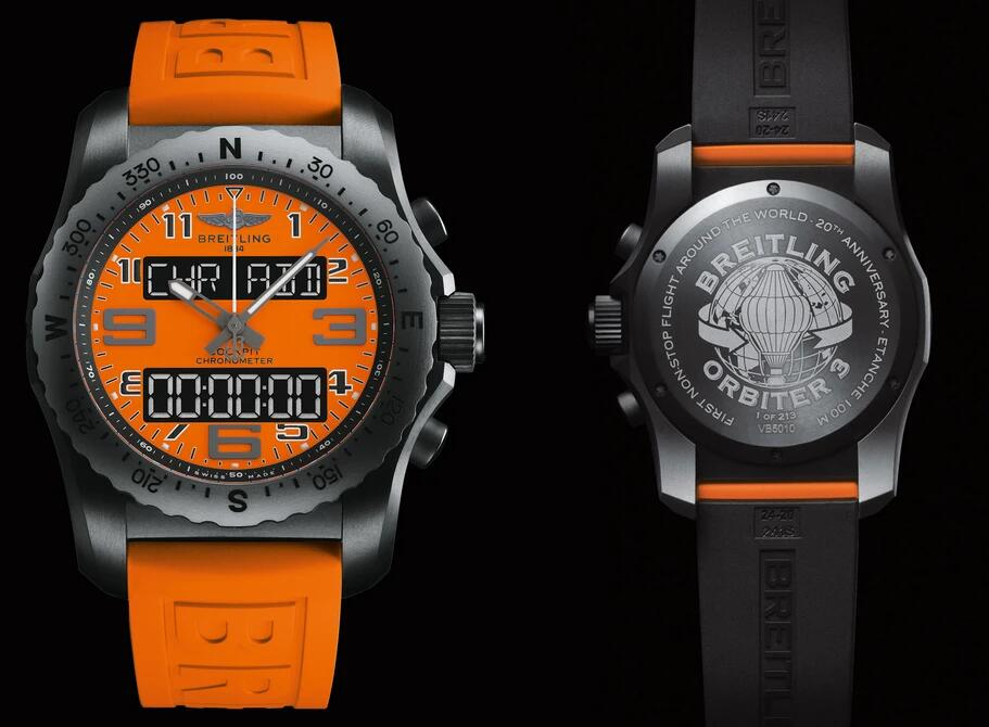 Fake watches online are set with large Arabic numerals hour markers.