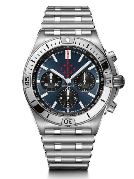 The red hand of the replica watches online is corresponding with the color of Red Arrows.