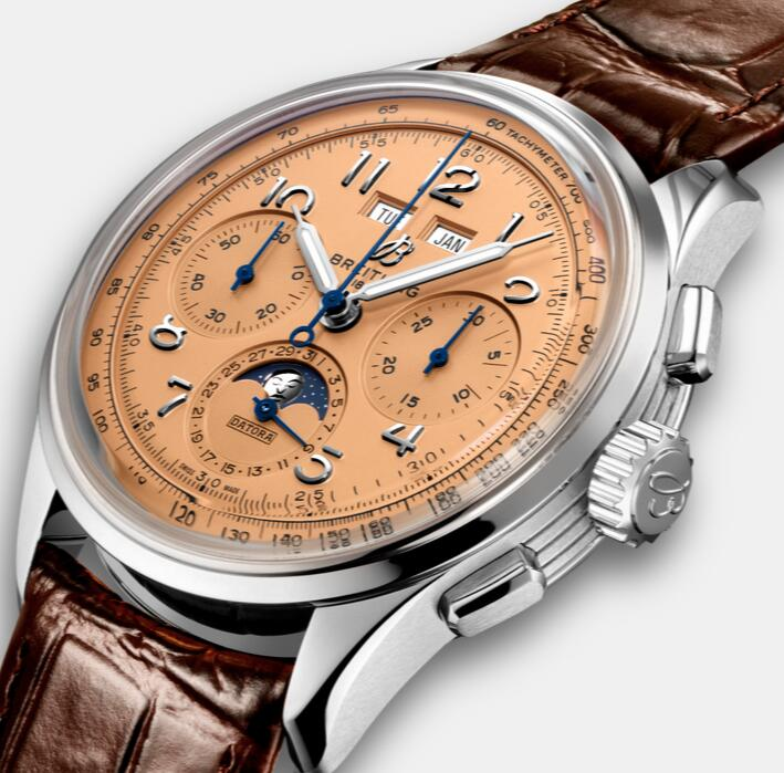 Driven by the automatic Calibre B25, the fake watches online ensure the complex functions.