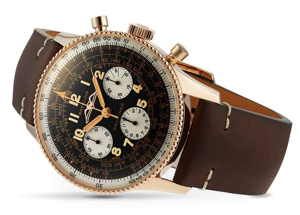 Swiss fake watches keep evident with black dials and white sub-dials.