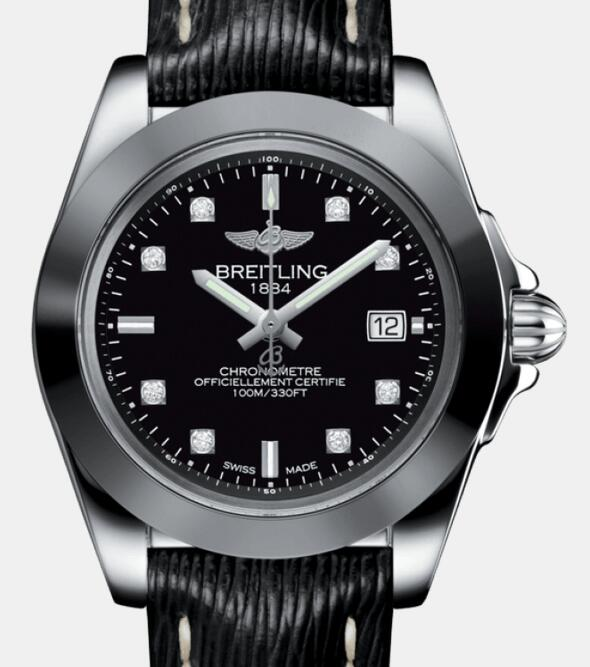 1:1 Swiss replica watches are classic with black color.
