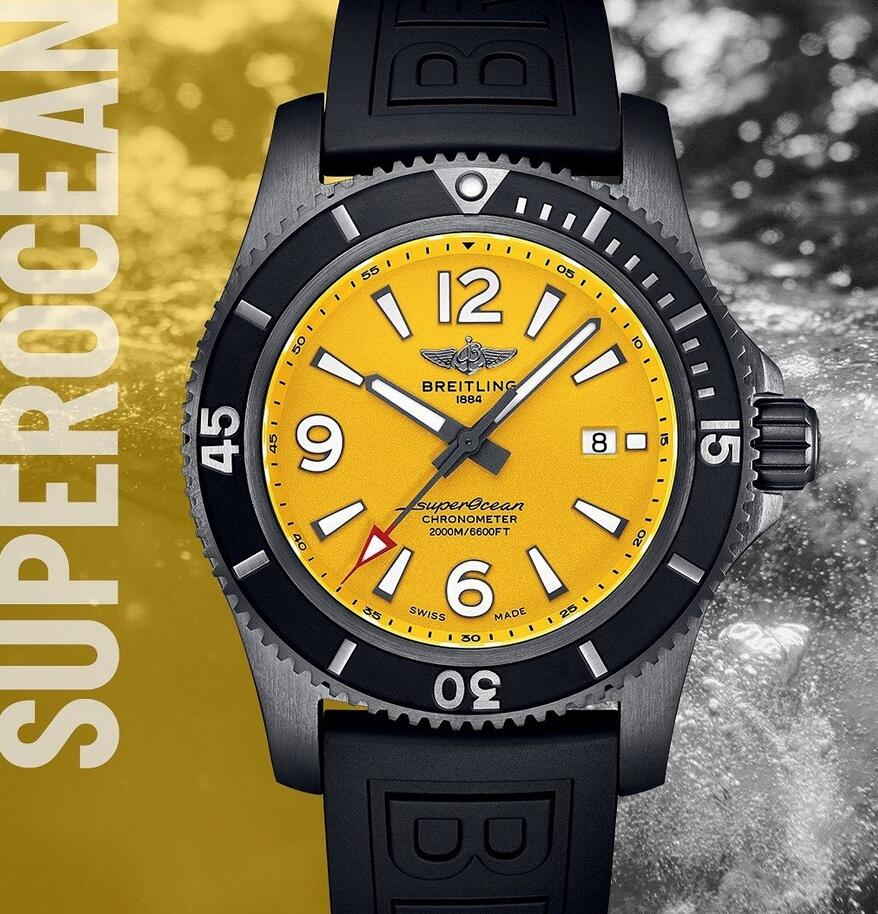 Swiss fake watches are charming for the yellow colored dials.