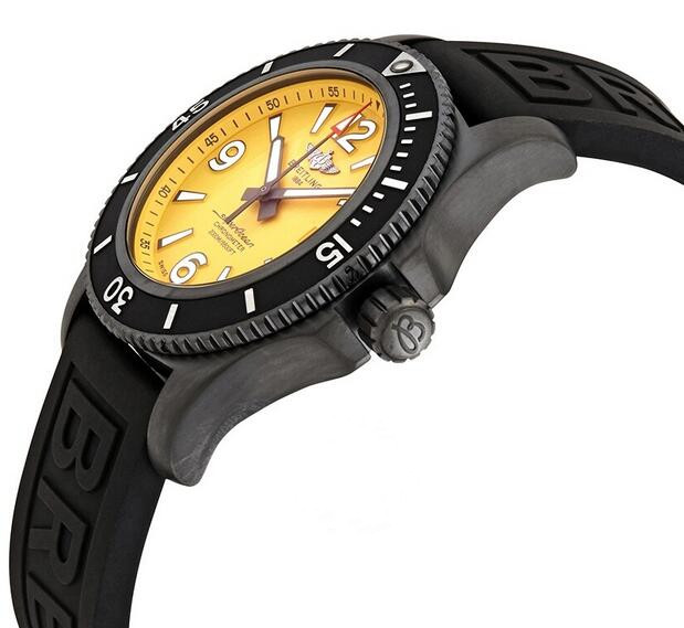 1:1 replication watches are obviously shown with yellow dials and black bezels.